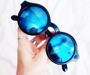 sunglasses, summer, and blue image