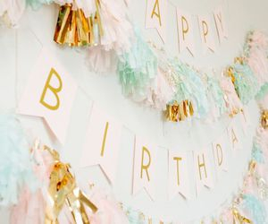 birthday, gold, and party image