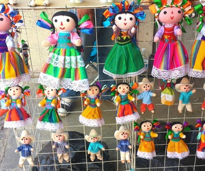 color, dolls, and dress image