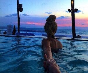 beach, friend, and goals image