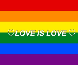 lgbt, love is love, and love wins image