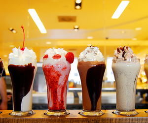milkshake, food, and chocolate image