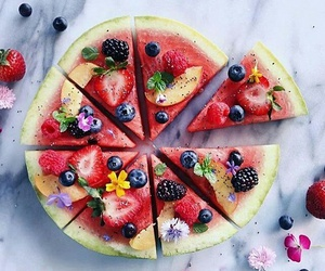 eat, melon, and food image
