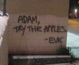 adam, apple, and eve image