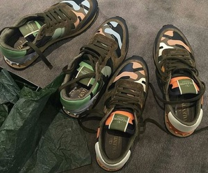 camo, shoes, and Valentino image