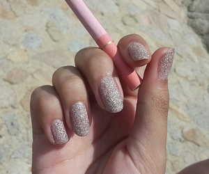 cigarettes, glitter, and nails image
