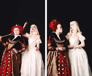 alice in wonderland, white queen, and red queen image