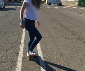 adidas, girl, and skate image