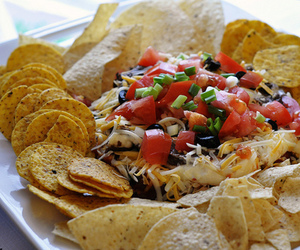 food, nachos, and yummy image