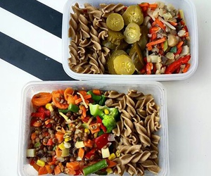 dinner, healthy, and pasta image