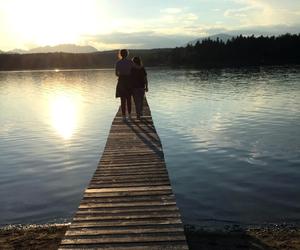 dock, friendship, and lake image