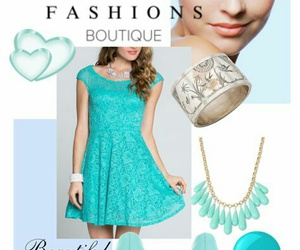 blue dress, dress, and dresses image