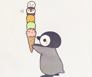 art, drawing, and penguin image