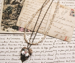 vintage, Letter, and necklace image