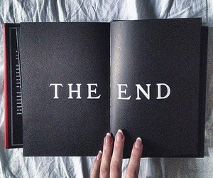 book, black, and the end image