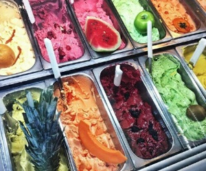 ice cream, food, and fruit image