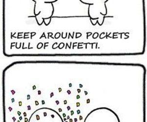 funny, confetti, and lol image
