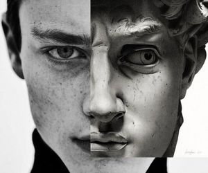art, black and white, and photography image