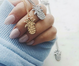 pineapple, girl, and jewelry image