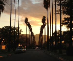 california, sunset, and summer image