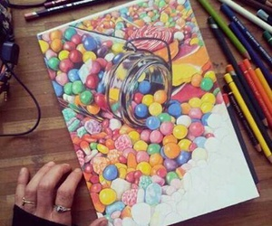 drawing, candy, and art image