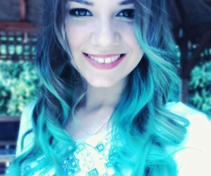 color hair, hair, and turquoise_blue_hair image