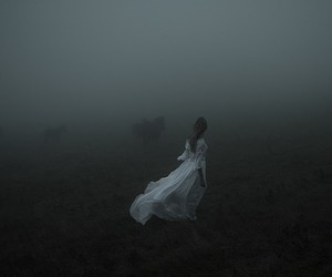 dark, alone, and Darkness image