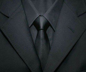 black, suit, and tie image