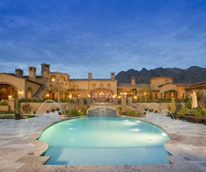 mansion, luxury, and pool image