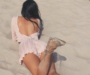 beach, fashion, and heels image