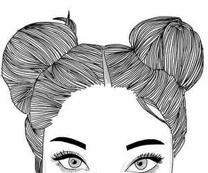 drawing, girl, and grunge. image