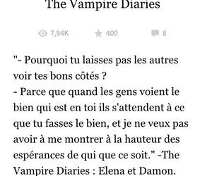 damon, Vampire Diaries, and elena image