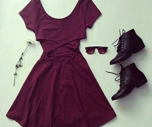 dress, outfit, and boots image