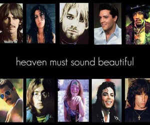 heaven, Amy Winehouse, and Elvis Presley image