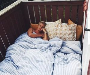 boy, bed, and couple image