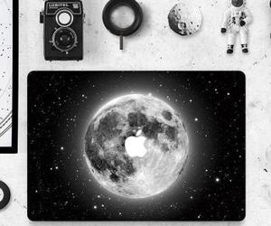 moon, apple, and black image