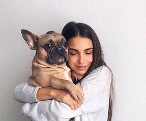 dog, girl, and pet image