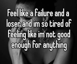 depressed, failure, and loser image