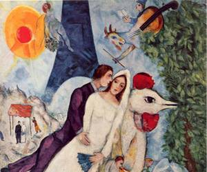 marc chagall, couple, and painting image