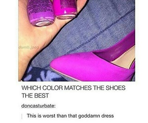 shoes, purple, and funny image