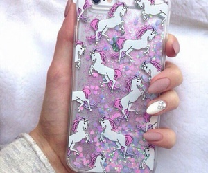 unicorn, pink, and iphone image