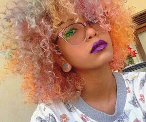 colours, curls, and girl image
