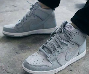 gray, nike, and shoes image