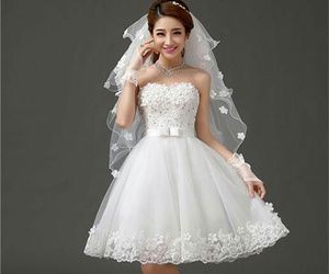 clothes, short, and wedding dress image