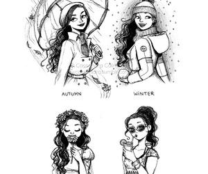 c-cassandra, drawing, and seasons image
