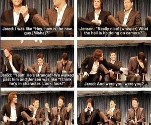 funny, jared padalecki, and Jensen Ackles image