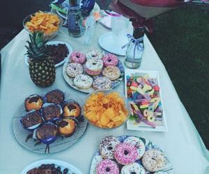ananas, birthday, and buffet image