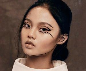 makeup, girl, and model image