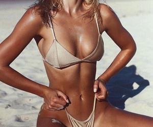 beach, bikini, and tan image