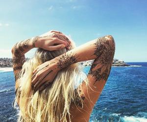 beach, summer, and tattoo image
